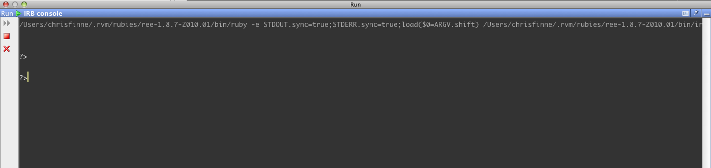IRB and Rails Console blank – IDEs Support (IntelliJ