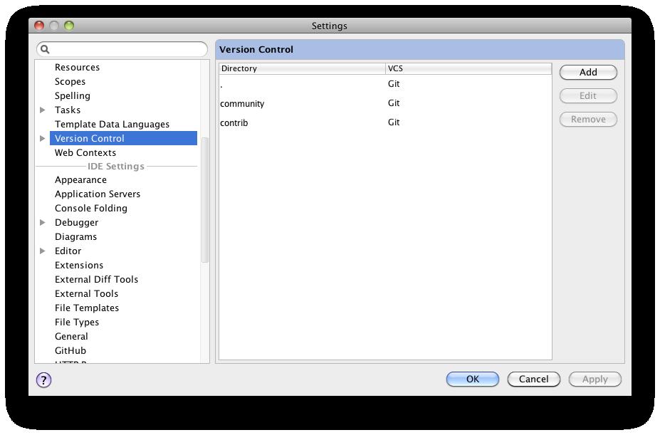 Multiple git repositories – IDEs Support (IntelliJ Platform