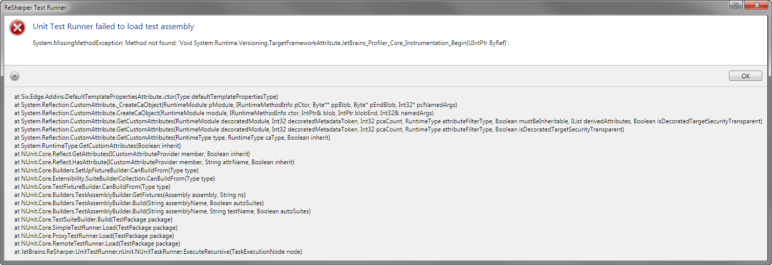 dotcover cannot load test net tools support jetbrains