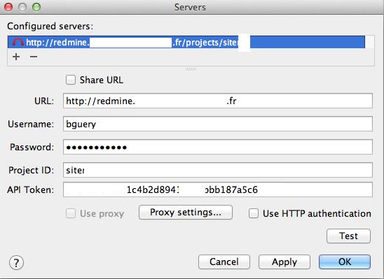 Cannot add Redmine server – IDEs Support (IntelliJ Platform