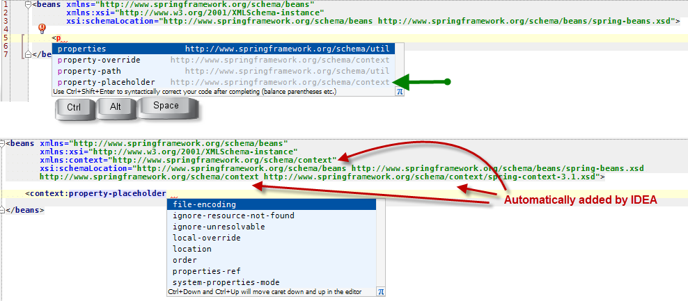 I know the way the Idea add the namespace on the fly is a useful