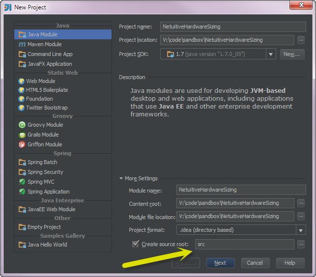 application source root