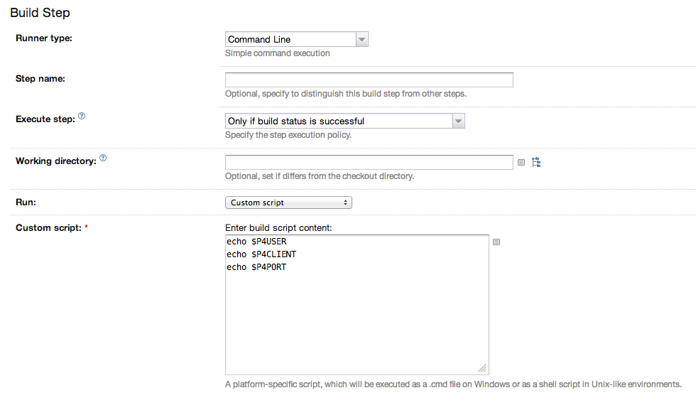 Name of generated Perforce client spec – TeamCity Support