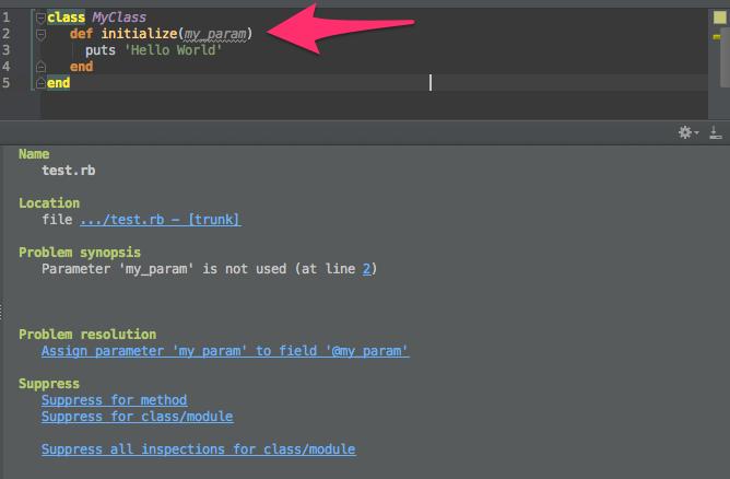 RubyMine Unused Local Variable.png
