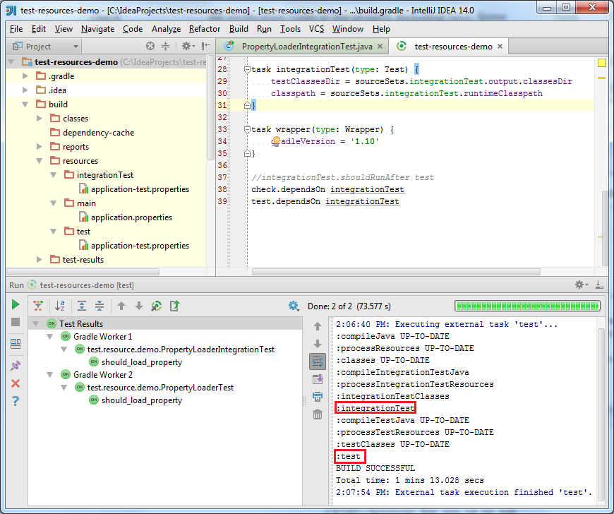 139 223 No copy test resources – IDEs Support (IntelliJ