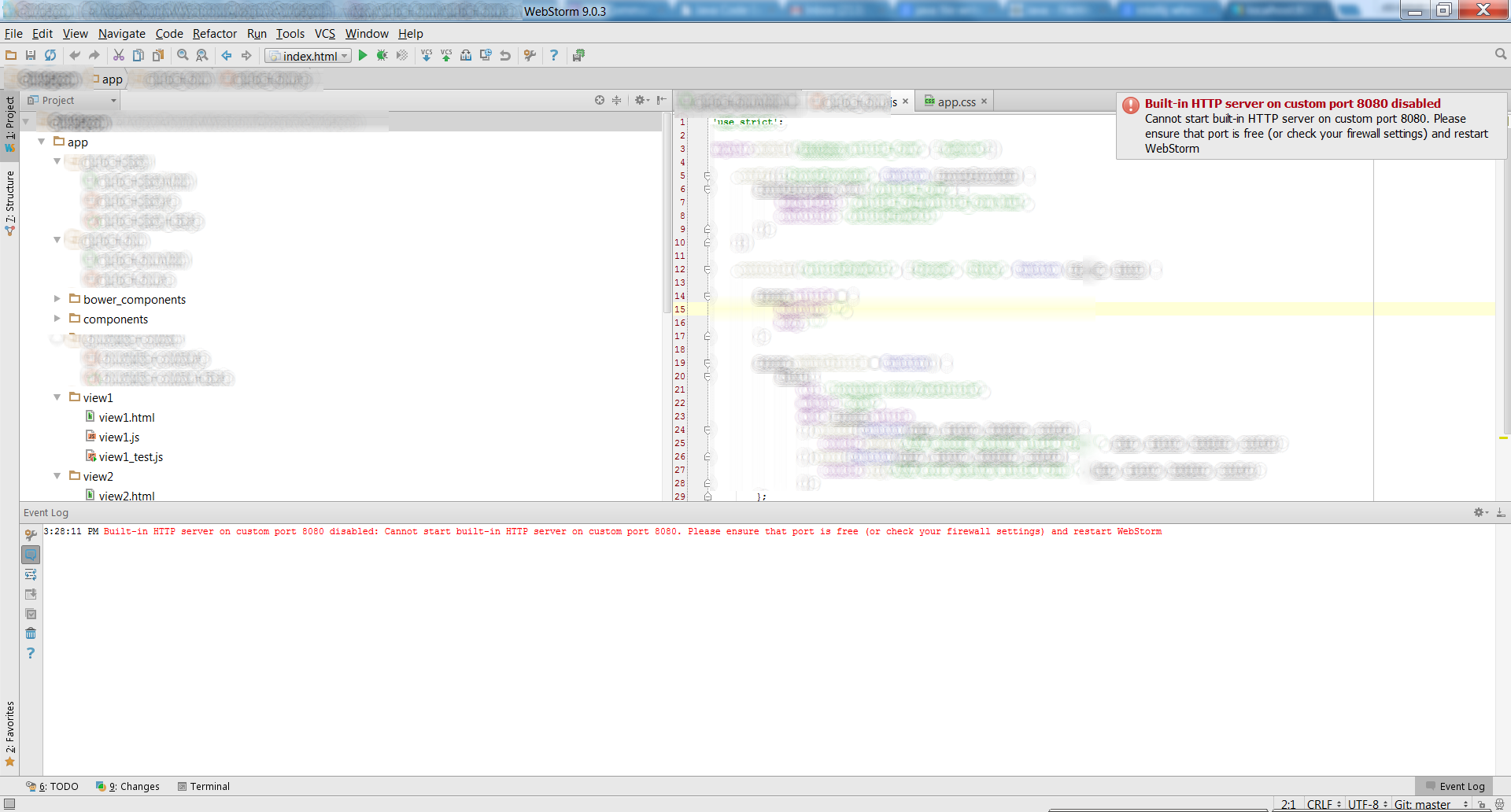 WebStorm port already in use.png