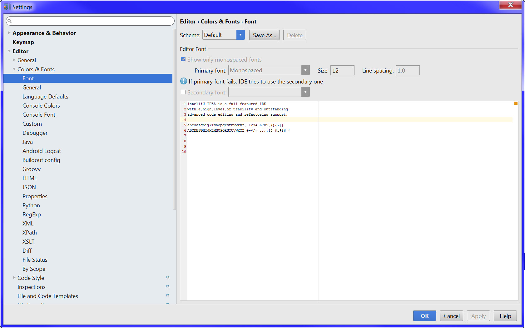IntelliJ 14 1 changed the size of my default font – IDEs Support