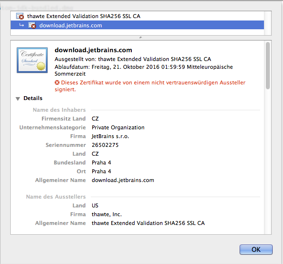 Certificate error for download.jetbrains.com – IDEs Support ...