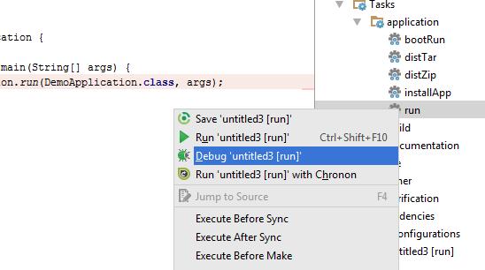 Gradle Plugin Run/Debug Configuration - Where are the debug options
