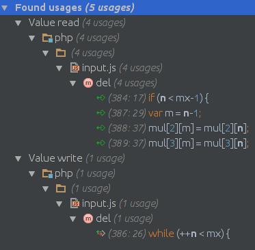 intellij find usages