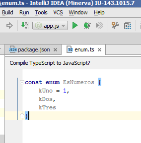 Intellij appends semicolon to TypeScript enums – IDEs